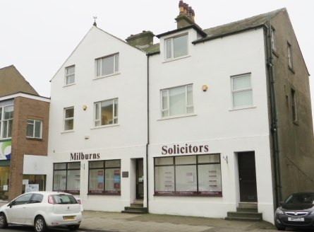Prominently situated central Workington office premises. Office accommodation over ground and two upper floors with additional basement storage. Limited on-site parking. Offered on new lease on FRI terms for a period to be negotiated. Terms: Rent: &p...