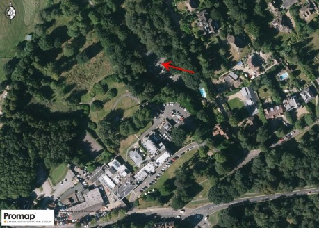 This site is a former car park in a secluded and wooded setting. There is a private, no through road, leading from the western end of Bishops Down Road.\n\nThe site area, subject to the planning application, extends to approximately 0.7 acres (0....