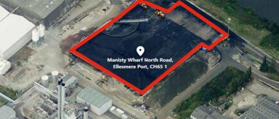 2.5 acres. Concrete hard standing. Bulk conveyor from berth in situ. Open storage / import/export terminal, processing or development. Adjacent to the Manchester Ship Canal. Can be connected to Ellesmere Port Docks via private road network within Pee...