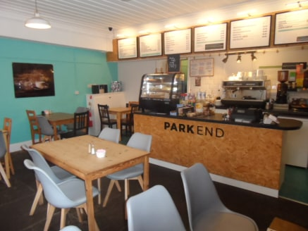 The property comprises a well presented seating/dining area with serving counter (34 capacity), commercial kitchen and adjoining take-away service. Relevant w/c facilities are also provided.  The Park End Cafe is an established locally run business....