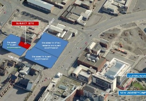 Development opportunity with planning permission for offices and associated car parking\n\nThe subject site occupies a strategic position on Little Patrick Street in close proximity to York Street and Nelson Street and in close proximity to the New C...