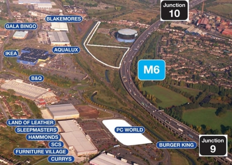 The site is bounded to the east by the M6 motorway and the Transco facility at James Bridge with the culverted River Tame bounding the land to the west. The land is suitable for a variety of open storage uses subject to planning and has future potent...