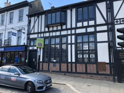 This two-storey property is an attractive mock Tudor design comprising a retail unit on ground floor, office/staff accommodation on the first floor and storage in the basement. To the rear of the ground floor is a toilet and small room. The basement...