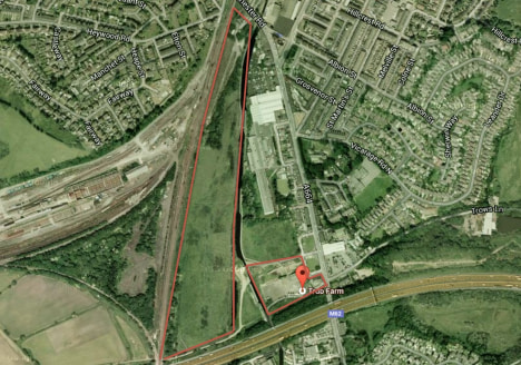 The site amounts to 20 acres (8.09 hectares approximately and is greenfield in nature. The existing canal bridge is built to an adaptable standard and is designed to be able to be widened. Further information on this can be provided. The site is gene...