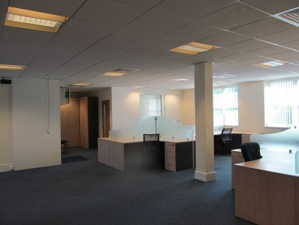 Ground floor 1,421 sq ft office accommodation situated on the Buntsford Gate Development. Relatively open plan office area with separate meeting rooms and allocated on site car parking.