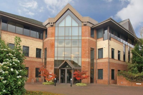 A modern office building prominently situated in the town centre of Wokingham