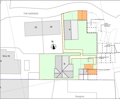 Situated on the Greenhill Gardens Residential Estate, two freehold building plots with planning consent to erect two detached bungalows and allocated parking (Plot A: Two bedrooms, bathroom, kitchen, lounge/diner and garden) (Plot B: Two bedrooms wit...