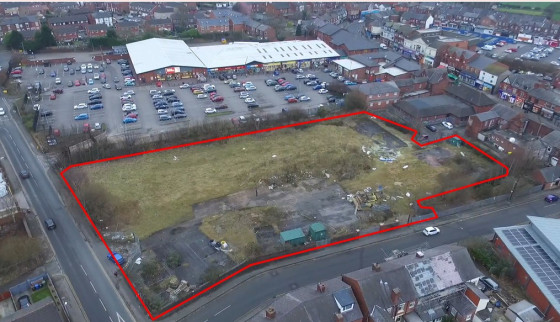 The site is a former gas depot which is cleared and levelled and is generally rectangular in shape. The site fronts onto Princess Road to the northern boundary, York Road to the eastern boundary, residential to the western boundary and Gerard Shoppin...