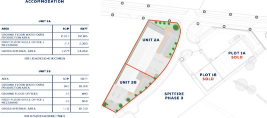 Under Construction - Practical Completion October 2020  New Build Warehouse / Industrial Units  From 12,000 to 36,500 sq ft  Can be combined to provide 36,500 sq ft  Price and Rental - Upon Application