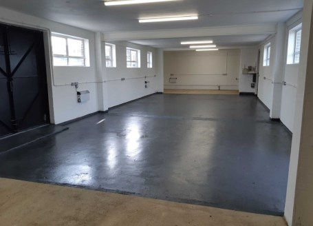 Refurbished Workshop. Single and 3 phase electricity supply, strip lighting, painted walls, extensive perimeter power points and electric heating. Four sets of doors - two double and two single. All are high security metal doors and provide secure ac...