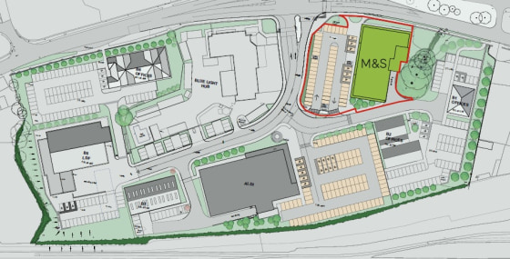 The unit was developed by Rawdon Property Group to provide a modern purpose-built store for M&S Simply Food, with ancillary storage, dedicated loading areas and car parking. M&S has 51 allocated car parking spaces providing a parking ratio of 1:231 s...