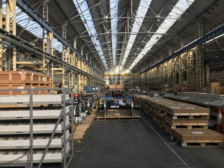 Channel Way comprises a self-contained former train manufacturing facility which has been  adapted and extended benefitting from the following:   Three, high bay interconnecting warehouses  of brick construction under steel truss roofs   Integral thr...