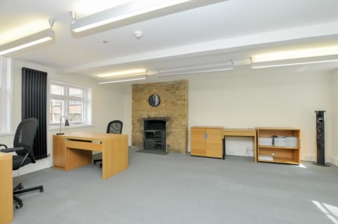 The property comprises second floor office with modern kitchenette, accessible via a communal staircase only (no Lift). The office benefits from being inside an attractive Grade II Listed Building which has had an extensive refurbishment to provide o...