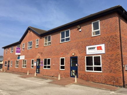 The property comprises separate ground and first floor office suites within a modern, mid-terrace office building. The ground floor is currently occupied under a lease expiring September 2019 at a passing rent of £19,162 per annum, increasing t...