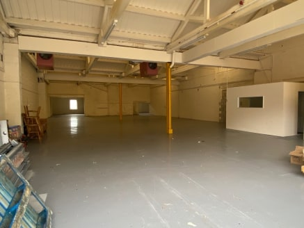 The subject property comprises a well-proportioned self-contained warehouse unit being arranged in 2 sections which are now available.  The front section has an eaves height of 3.58m with electrically operated roller shutter door with the main entran...