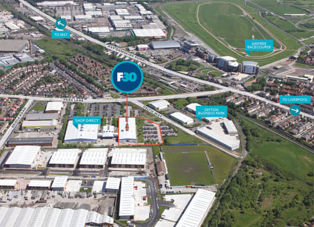 HQ Offices & Warehouse. A secure warehouse facility. Extensive yard & parking. 45 Dedicated parking spaces. 4.3m eaves. Steel frame construction. Pitched roof benefits from partial sky lights. 3 level loading doors. Refurbished open plan offices. Lad...