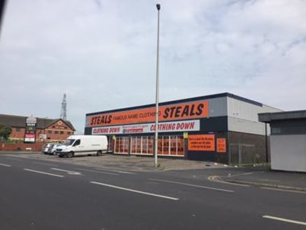 The property comprises a detached, single storey retail premises. Externally there is a glazed frontage to Rigby Road and return frontage to Salthouse Avenue along with the roller shutter for goods access. The roof was replaced in 2017. Internally th...