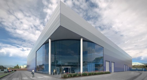 2 bay portal frame warehouse unit. Insulated clad roof incorporating roof lights, insulated clad elevations. 3 storey office / amenity block. 14 m eaves. 3 no. dock level loading doors. 4 no. level access loading doors. 55 car parking spaces, 47 trai...