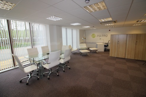 Modern office premises with picturesque views over countryside in...