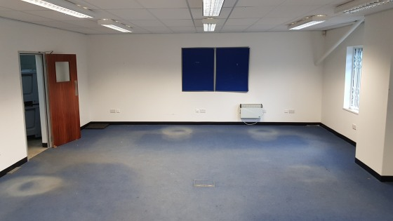 The property comprises a modern steel portal frame warehouse building which comprises ground floor entrance lobby with offices either side, kitchen, WC and large office to the rear. Surrounding the office area is warehouse space which includes works...