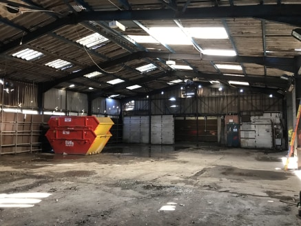 The property comprises a detached industrial unit of steel portal frame of block elevations beneath a part steel, part cement sheet pitched roof.  Internally, the accommodation provides open plan warehouse space with a section of offices over two flo...
