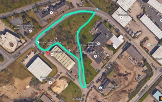 The Site is Located at Hunsley Street and Petre Street approximately 1 Mile ( 1.5km) from Meadowhall and 1.5 miles (2.25Km ) From J 34 of The M1 Motorway. The Site is about 2 miles (3 Km) Form Sheffield City Centre