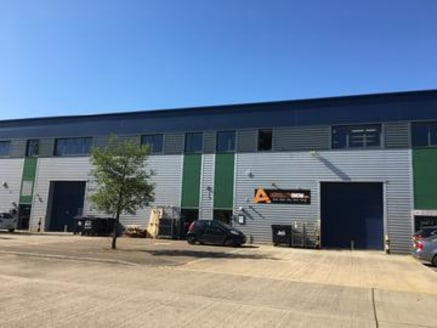 The property comprises two adjoining warehouse/industrial units of steel portal frame constructed in 2007.\n\n-6.1m eaves height\n-Full height electric loading door\n-Less than 0....