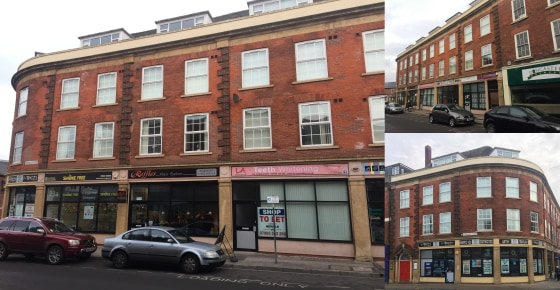 6 retail units. Basement with conversion potential to spacious town centre apartments. Income from ATM. Reversionary interest in upper floors. Rental income at 31/01/20 £60,260.