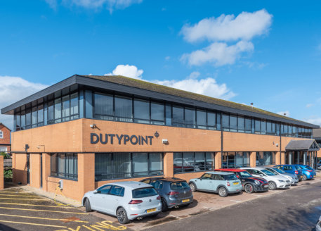 Three detached office buildings totalling circa 28,298 sq ft. • Located on Olympus Park Business Centre, an established commercial area of circa 35 acres. • Located two miles south west of Gloucester city centre. • Freehold....