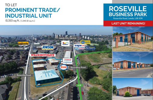 Roseville Business Park comprises 4 detached modern industrial/ trade units. Each unit incorporates ancillary office space and WC. The unit is of a steel frame construction with brick/ blockwork walls, concrete floors and steel profile sheet roofing...