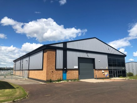 - Detached Industrial Unit with Yard.  - Prime Location  The property is of steel portal frame construction with brick and block walls to a height of 2m with insulated clad panels above.  Internally the warehouse has concrete floor throughout with in...