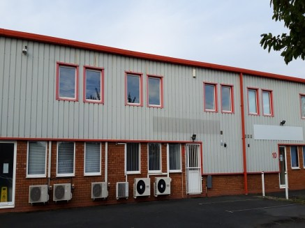 A 2,922 sq ft mid-terrace commercial unit arranged over the ground and first floors. A good sized warehouse and good quality office accommodation. 10 allocated car parking spaces with a loading / unloading bay.