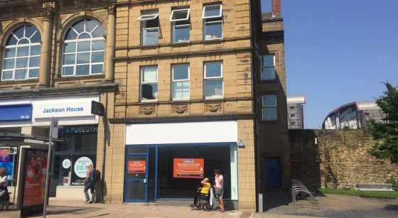 PROMINENT RETAIL UNIT - GATESHEAD  Prominent Position Fronting Jackson Street.  Kitchen and WC Facilities  Ground Floor Sales: 532 ft2 (49.40 m2)  Total NIA: 750 ft2 (69.68 m2)  LOCATION  The property is located on Jackson Street in Gateshead which i...