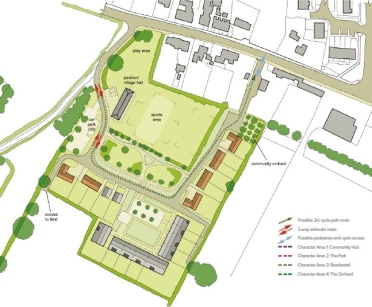 A unique residential development opportunity with outline planning permission for up to 20 residential dwellings with enhanced community facilities.   The proposed development comprises 20 residential dwellings arranged around a sports field and play...