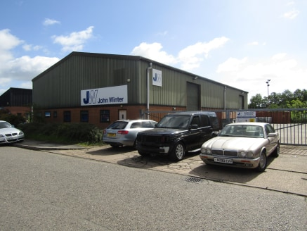5,600 sqft Industrial Unit on Heathcote industrial estate with offices totalling 188sqft, toilets and kitchen at front. Mezzanine floor measuring 770 sqft and large secure yard adjacent.
