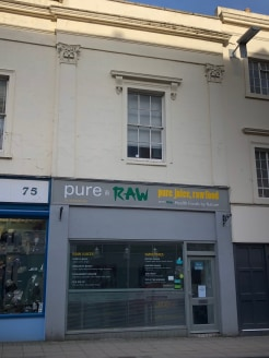 To Let on New Lease  Ground floor lock up shop  First and second floors ancillary accommodation  Plus basement storage