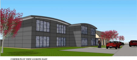 Well established mixed use business park and active commercial airfield. Planning permission has been obtained to construct 4 interlinking 2 storey office/light industrial buildings proposed to be of steel frame construction incorporating extensive g...