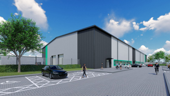 New high specification industrial units under construction. Units from 11,109 sq ft to 31,098 sq ft. EZ Business Rates incentives up to £275,000. Available from July 2020. Eaves heights 6m - 8m. First floor offices. Large service yards.