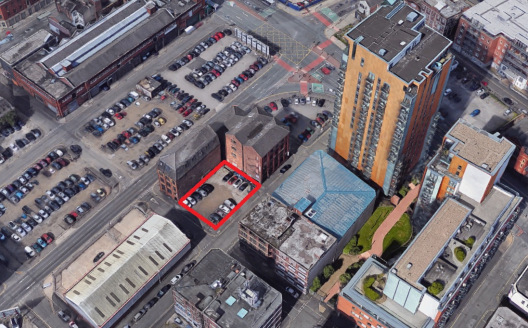The property comprises a flat, cleared site currently in use for car parking.  Planning consent has been granted for the erection of a six storey building comprising restaurant and retail use at ground level with 14 apartments above together with bas...