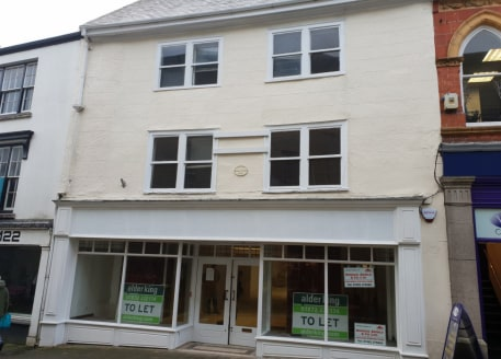 Town centre retail unit with ancillary accommodation. Retail area 2,412 sq ft. Available either to rent at £30,000 per annum or purchase the freehold - offers invited in the region of £350,000....