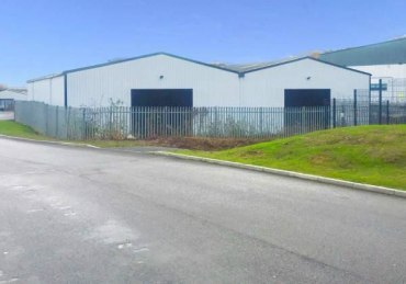 Modern industrial warehouse accommodation with secure yard. Steel portal frame. Concrete floor. 3 x level loading doors. Steel profile cladding. Offices and welfare areas. All mains services connected. Eaves height of 5.2 metres. Less than 1 mile to...