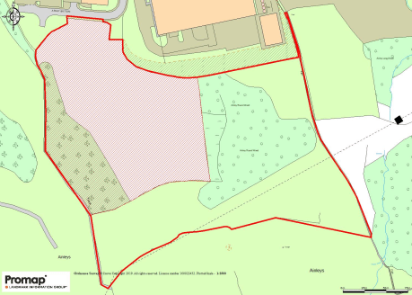 The site hatched red on the plan benefits from Outline Planning Permission under application reference number 16/00388/OUT  for 'Construction of a building to be used for B1c, B2 and B8 use with associated Car Parking and Formation of Access'.  The p...