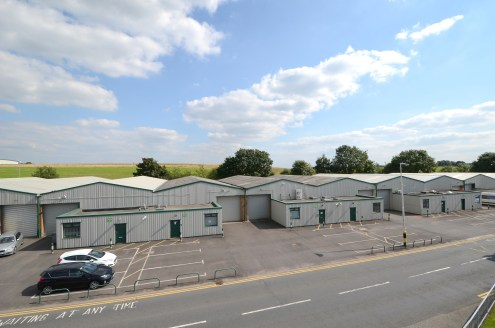 Drive in loading doors. Steel portal frame construction. Eaves height 5m. Can be combined. Fully fitted offices. Consent for B1(c), B2 and B8 uses. Dedicated car parking spaces.