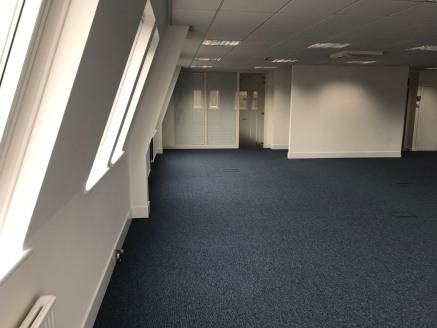 * Modern 2nd Floor Open Plan Office with potential to split into two units  Suite 1: 810 sq ft (75.25 sq m)  Suite 2: 680 sq ft (63.17 sq m)