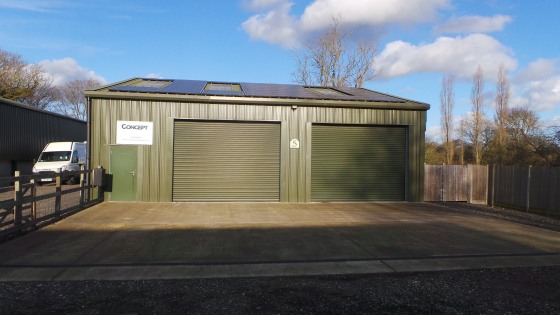 This unit of steel portal frame construction has precast concrete lower elevations with insulated profiled steel cladding to upper elevations under an insulated profileroof, with the benefit of two roller shutter doors, 12 ft 8'' wide by 10 ft 6'' hi...