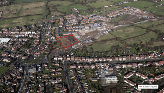 The subject site comprises of a development opportunity extending to approximately 1.2 acres (0.49 hectares) with an extensive frontage into the new residential development.  The surrounding land is to be developed by Taylor Wimpey for 650 houses wit...