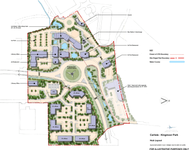 A centre piece development at Kingmoor Park, now benefitting from Enterprise Zone Status.<br>Outline consent for 100,000 sq ft office scheme as well as neighbourhood shopping facilities, cafes, retail units, petrol filling station and other support s...