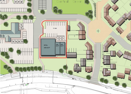 The retail development plot fronts London Road and forms part of the Kingshill 2 residential development scheme. The indicative layout provides for three retail units comprising a 4,000 sq ft unit and two units of 1,000 sq ft....