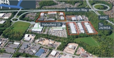 Halesfield 19 comprises a range of terraced industrial/warehouse units incorporating offices and service yards.<br><br>The units are of steel portal frame construction with brick and blockwork elevations and electric roller shutter entrance doors....