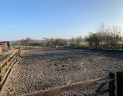 We are pleased to offer for sale a rare opportunity to acquire; a small holding of land, timber and blockwork stables, ménage, various outbuildings together with a semi-detached Dutch barn that benefits from a B1 use classification.  The total site a...